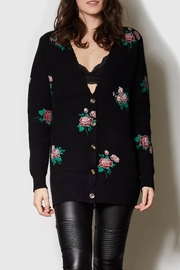 Pink Martini Black Rose Cardigan - Product Mini Image