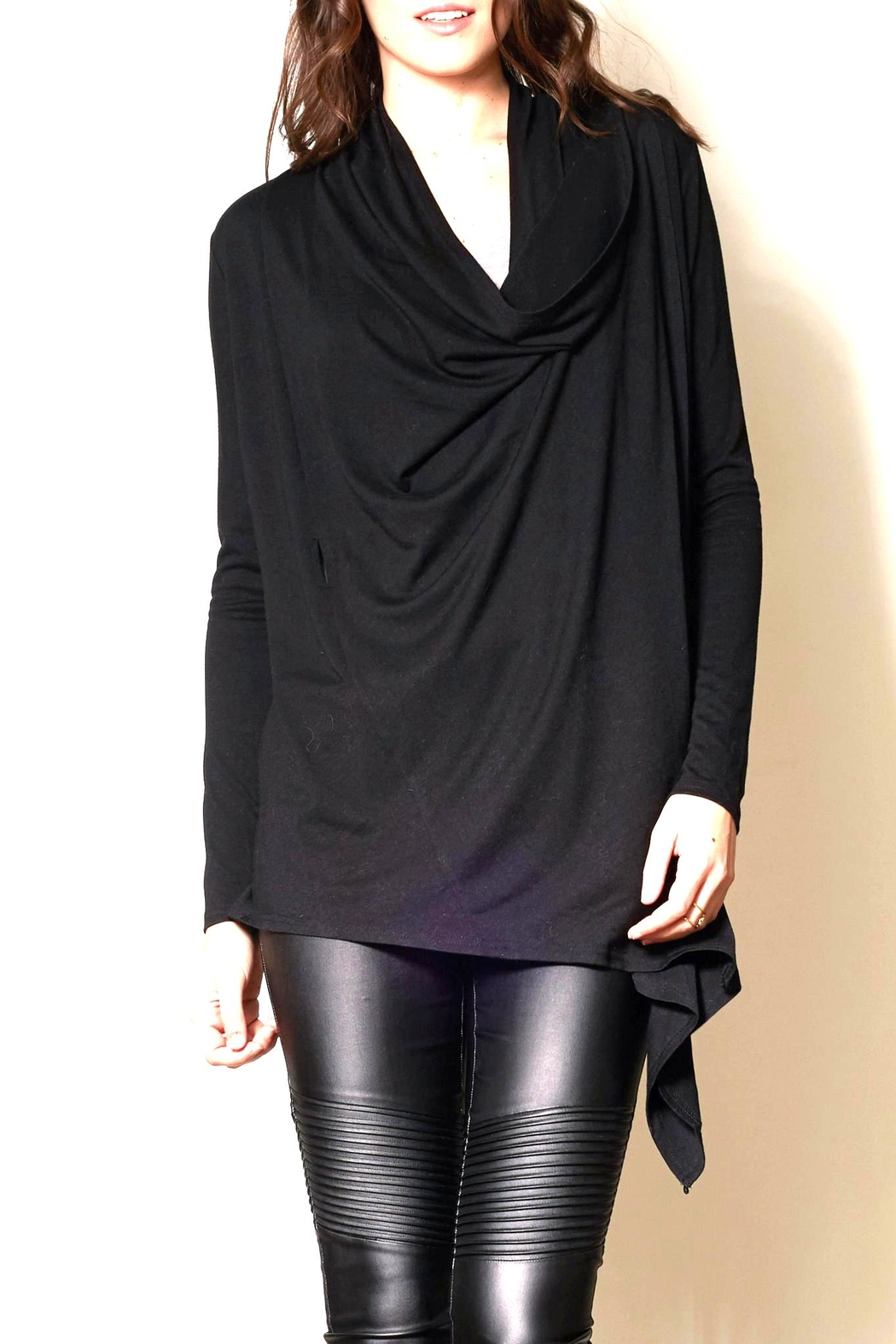 Pink Martini Black Wrap Cardigan from Ontario by Steel Style ...