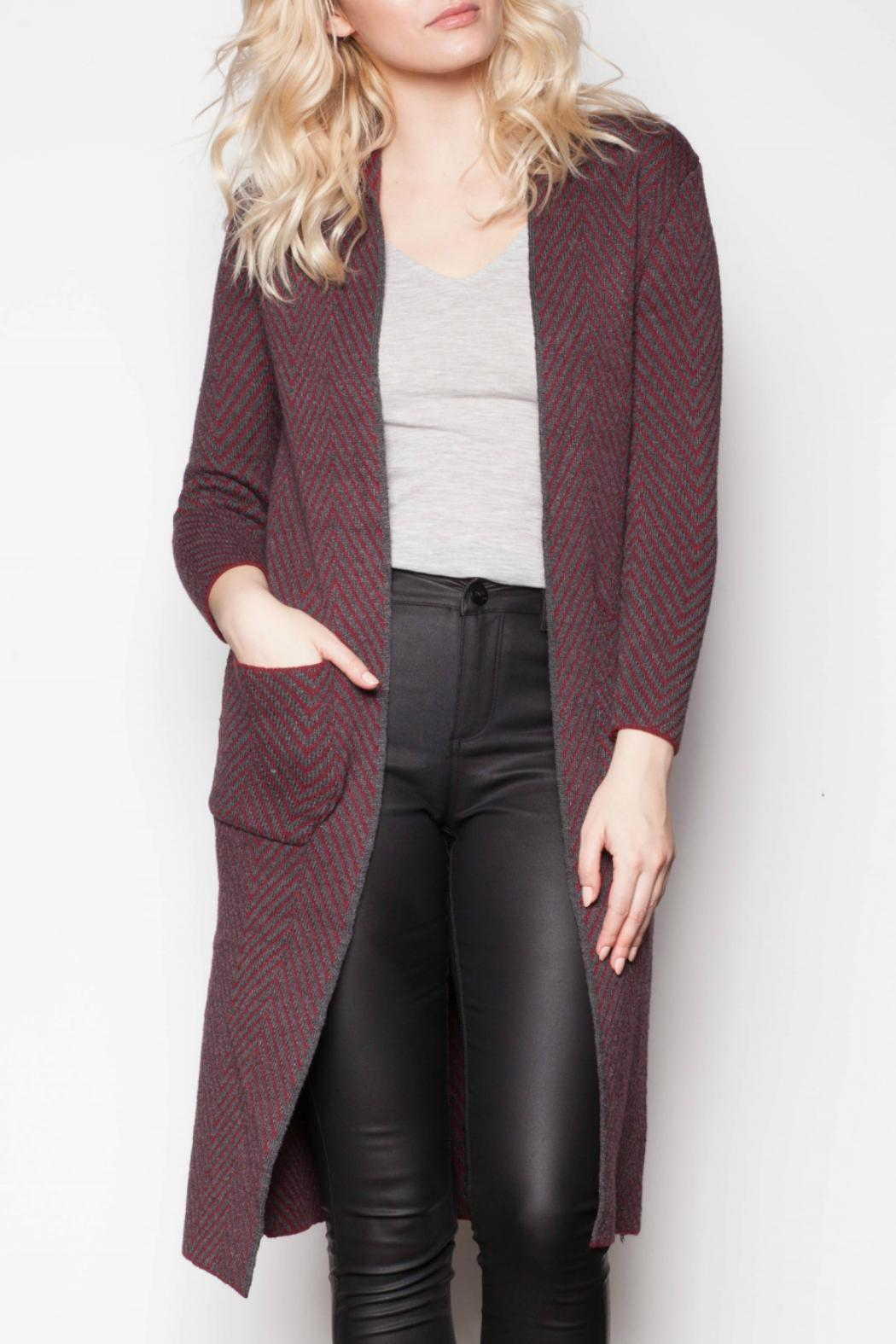 Pink Martini Chevron Duster Cardigan from Ohio by e.j. hannah ...