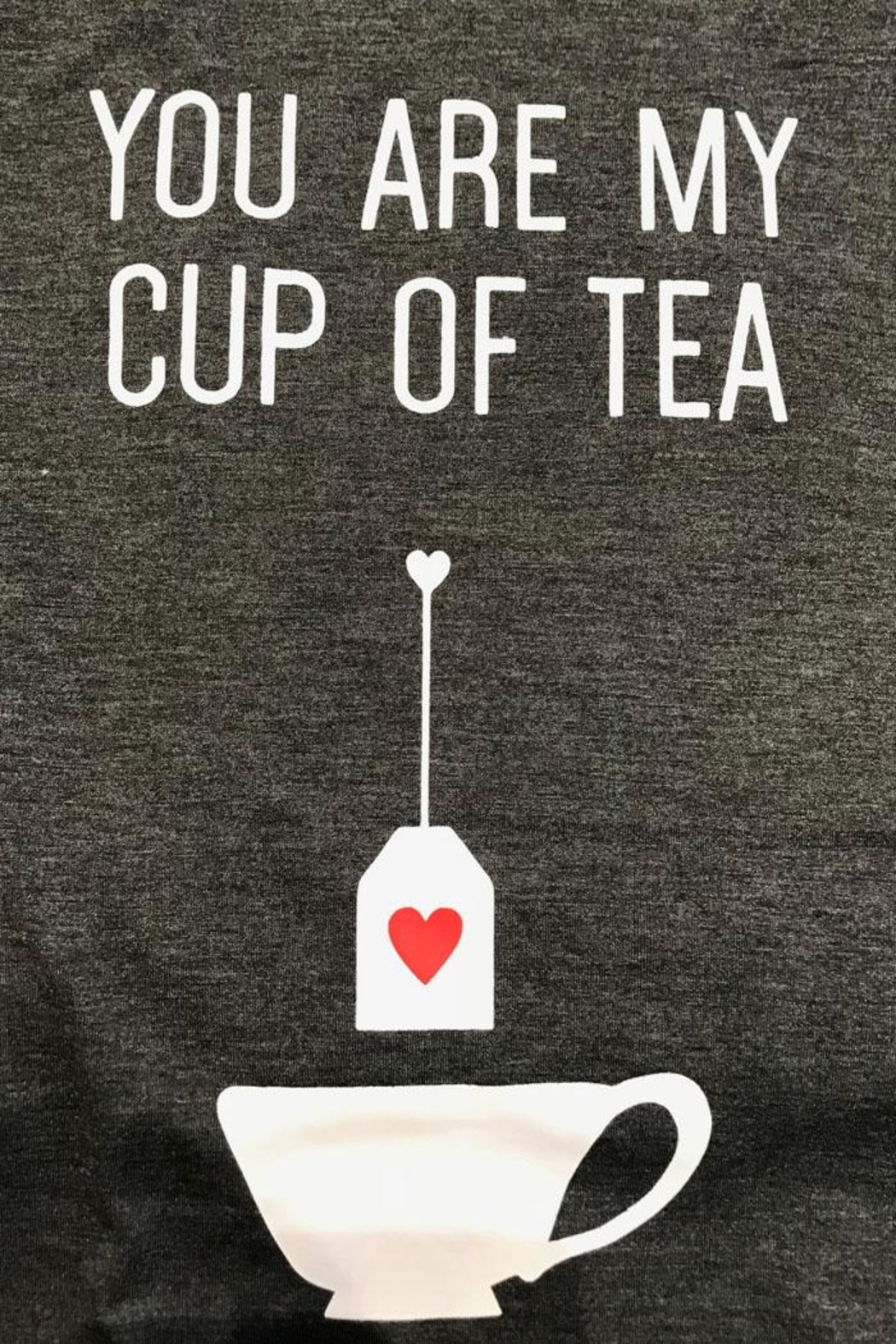 Pink Martini Cup Tea T-Shirt - Front Full Image