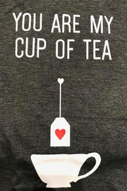 Pink Martini Cup Tea T-Shirt - Front full body