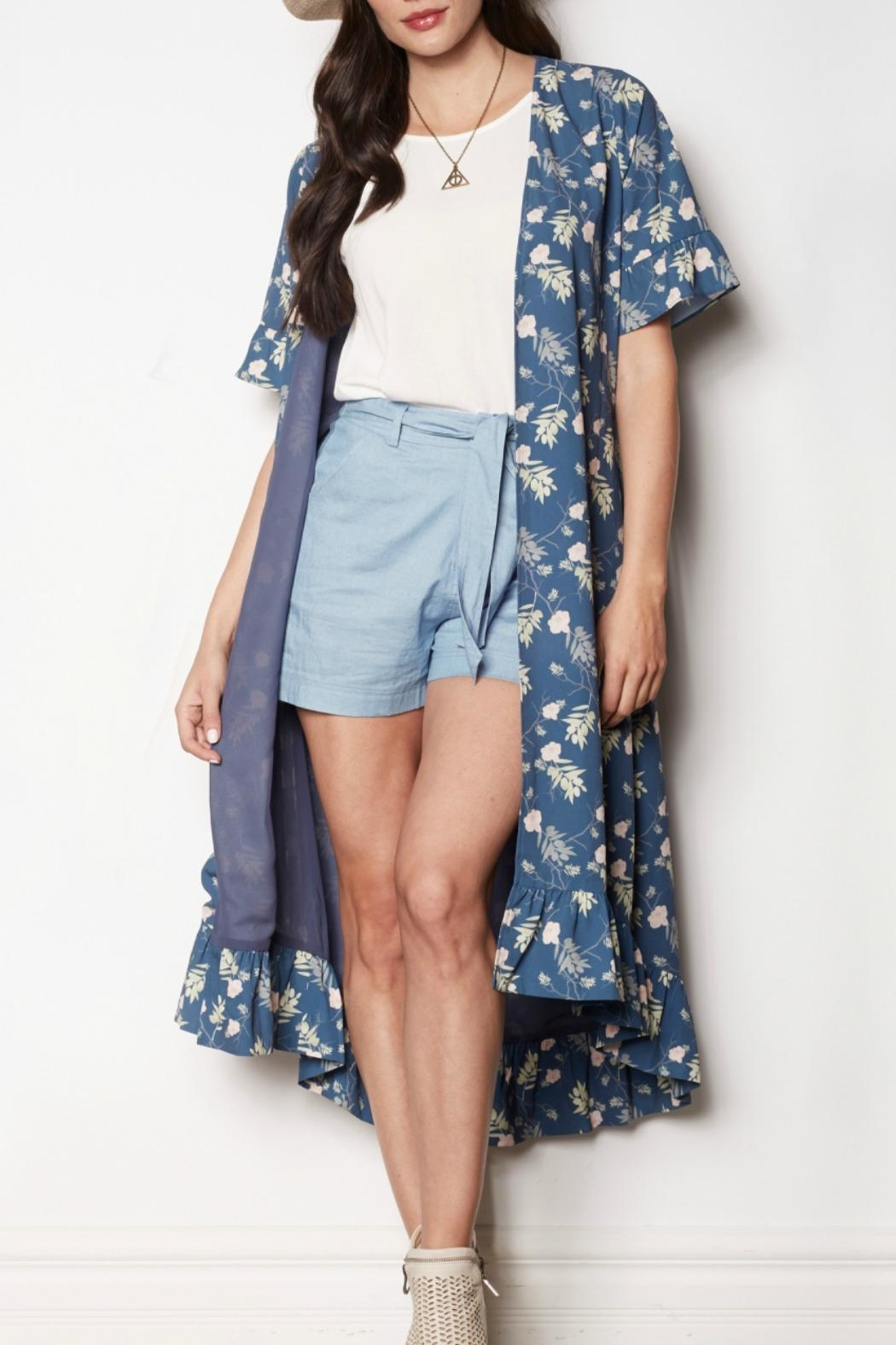 Pink Martini Floral Duster/Wrap Dress - Main Image