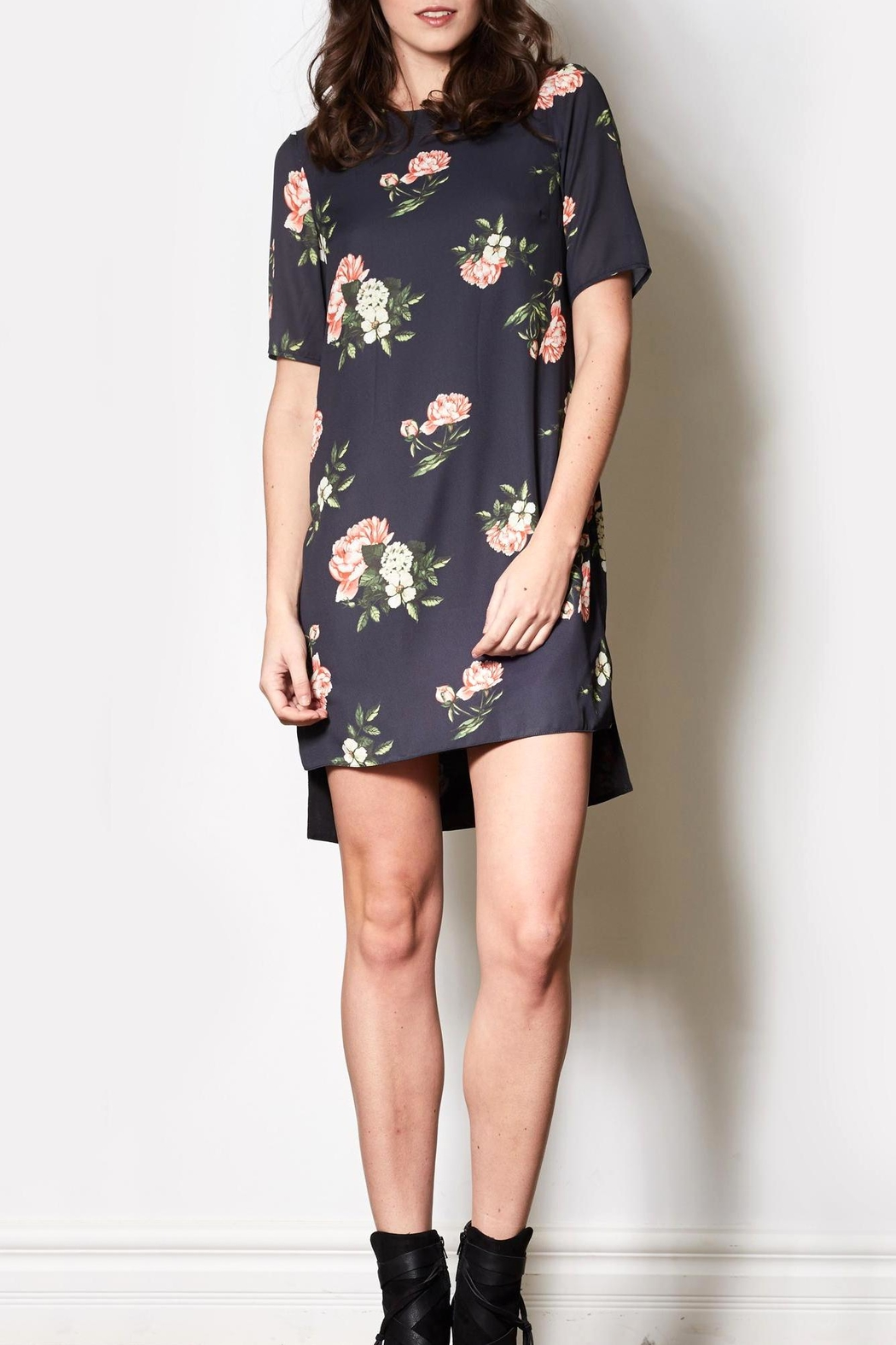 Pink Martini Floral Shirt Dress - Main Image