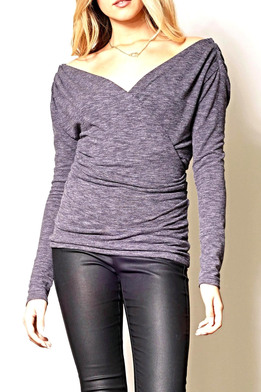 Pink Martini Grey Bodycon Top - Main Image