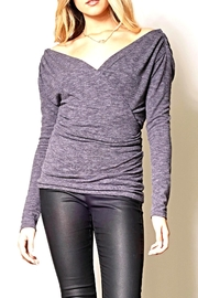 Pink Martini Grey Bodycon Top - Front cropped
