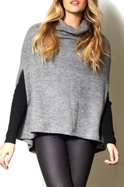 Pink Martini Grey Knit Poncho - Product Mini Image