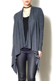 Pink Martini Grey Wrap Cardigan - Product Mini Image