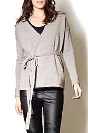 Pink Martini Knit Wrap Cardigan - Front cropped
