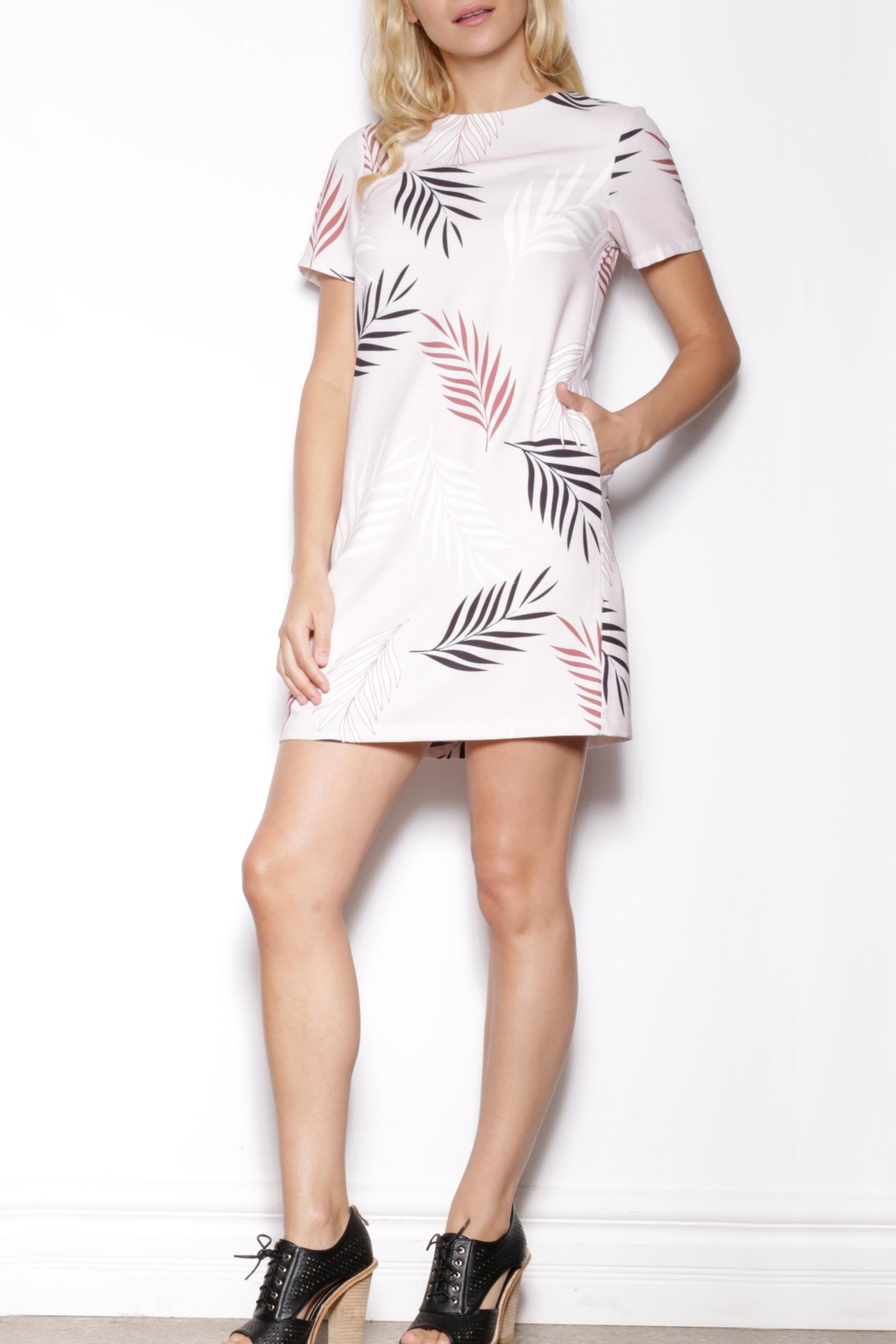 Pink Martini Patterned Shift Dress - Front Cropped Image