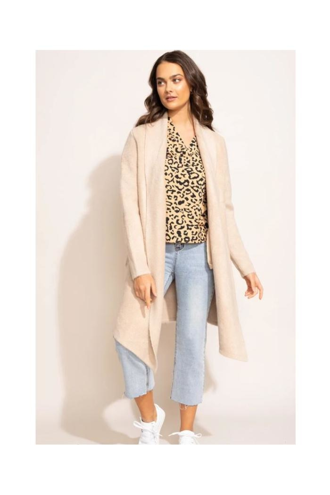 Pink Martini Stockport Jacket In Beige - Main Image