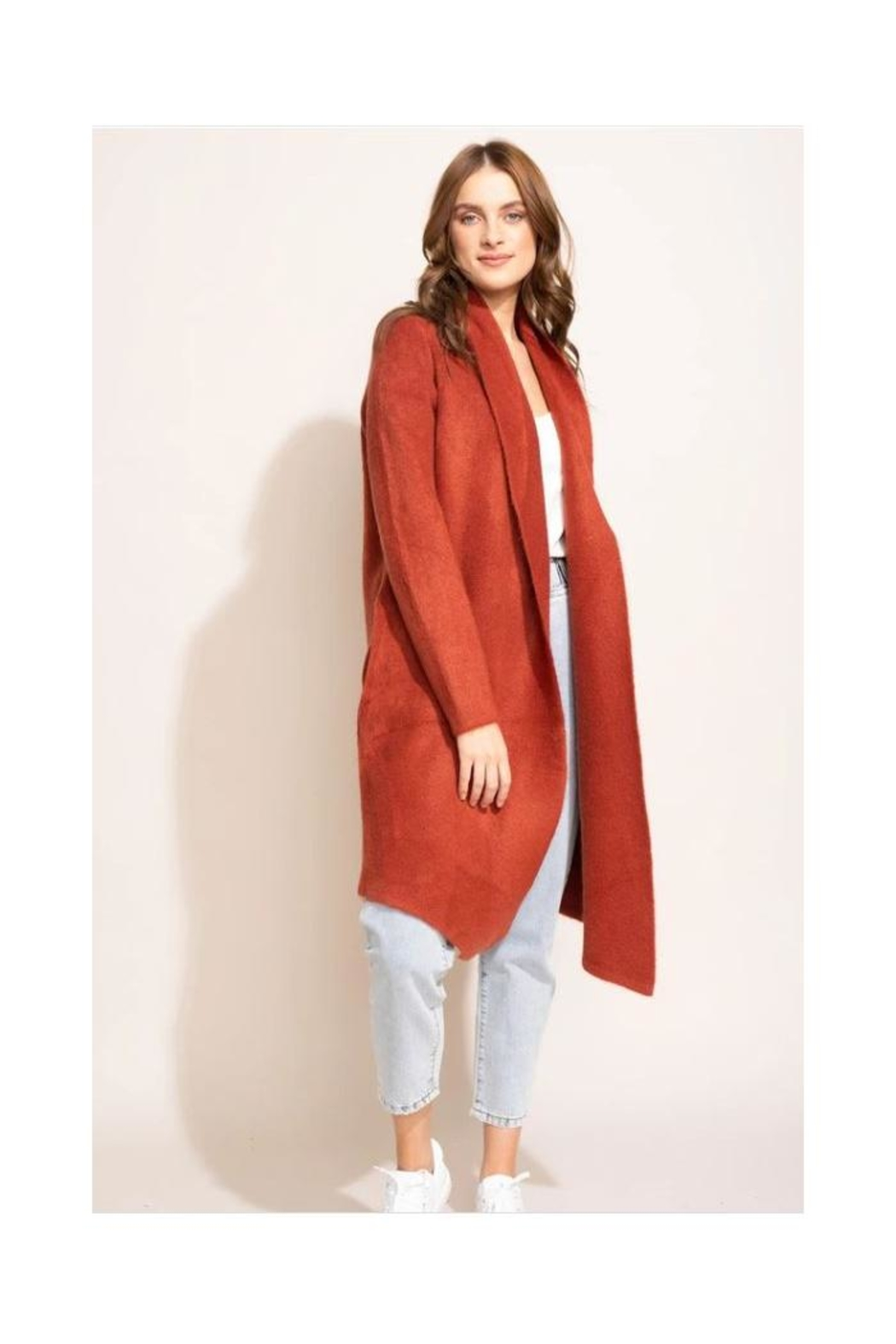 Pink Martini Stockport Jacket In Rust - Front Cropped Image