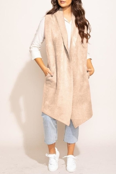 Pink Martini Stockport Vest In Beige - Product List Image