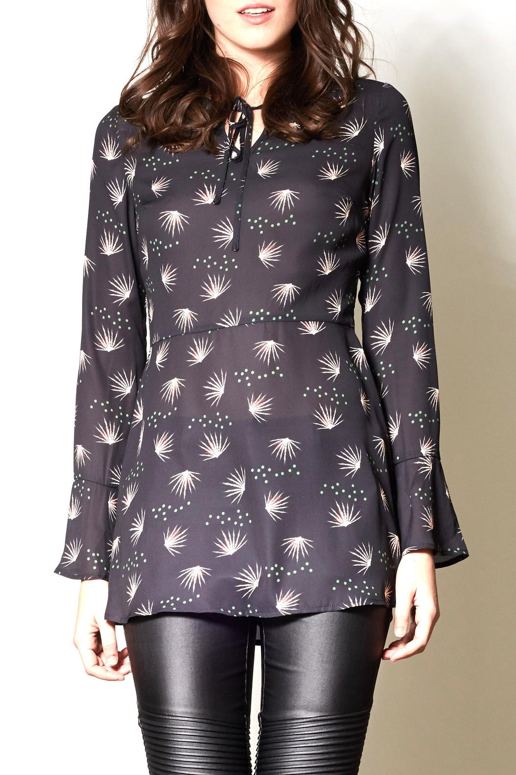 Pink Martini Collection Bell Sleeve Tunic Top - Main Image