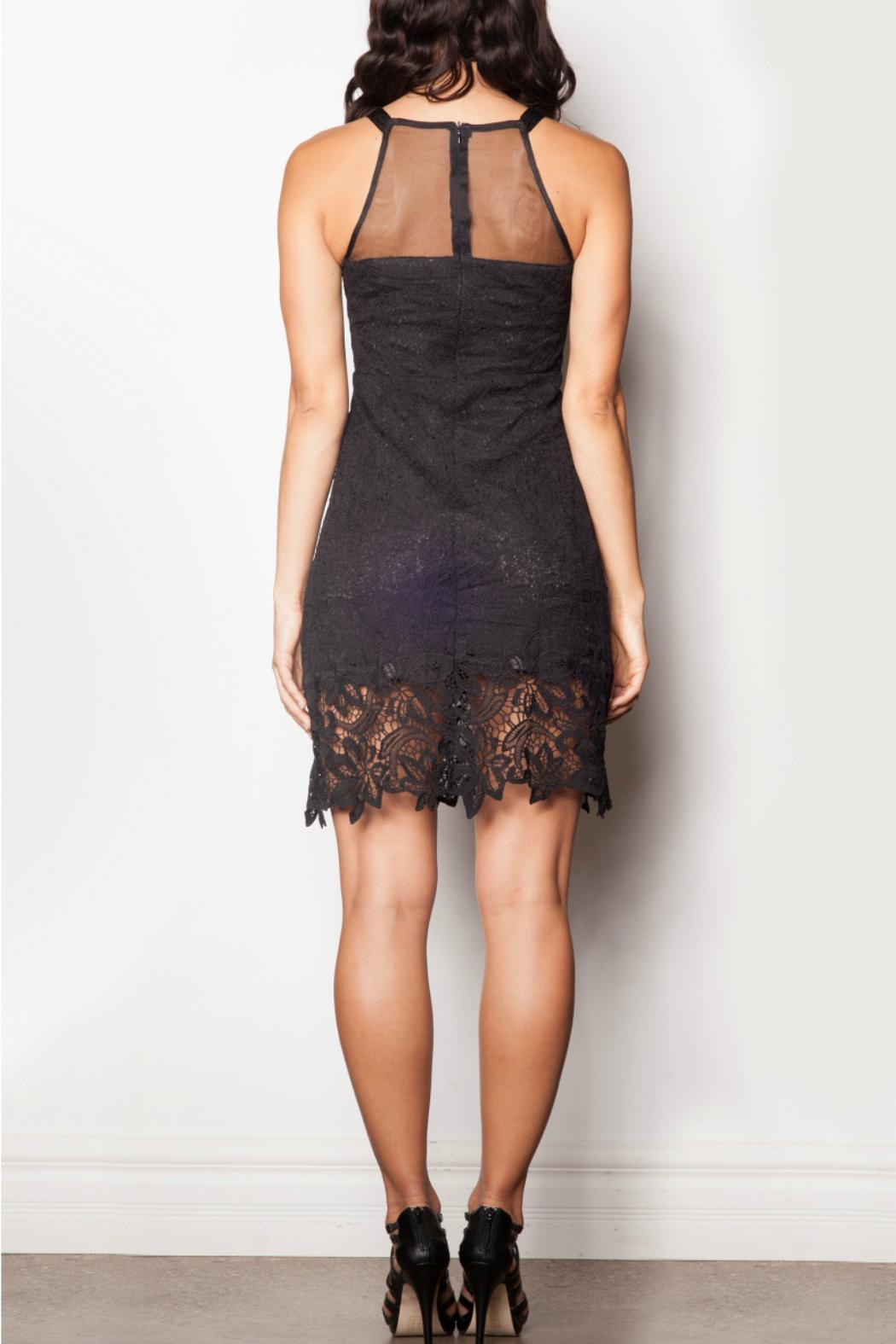 Pink Martini Collection Black Lace Dress - Front Full Image