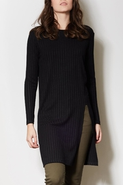 Pink Martini Collection Black Long Tunic - Front cropped