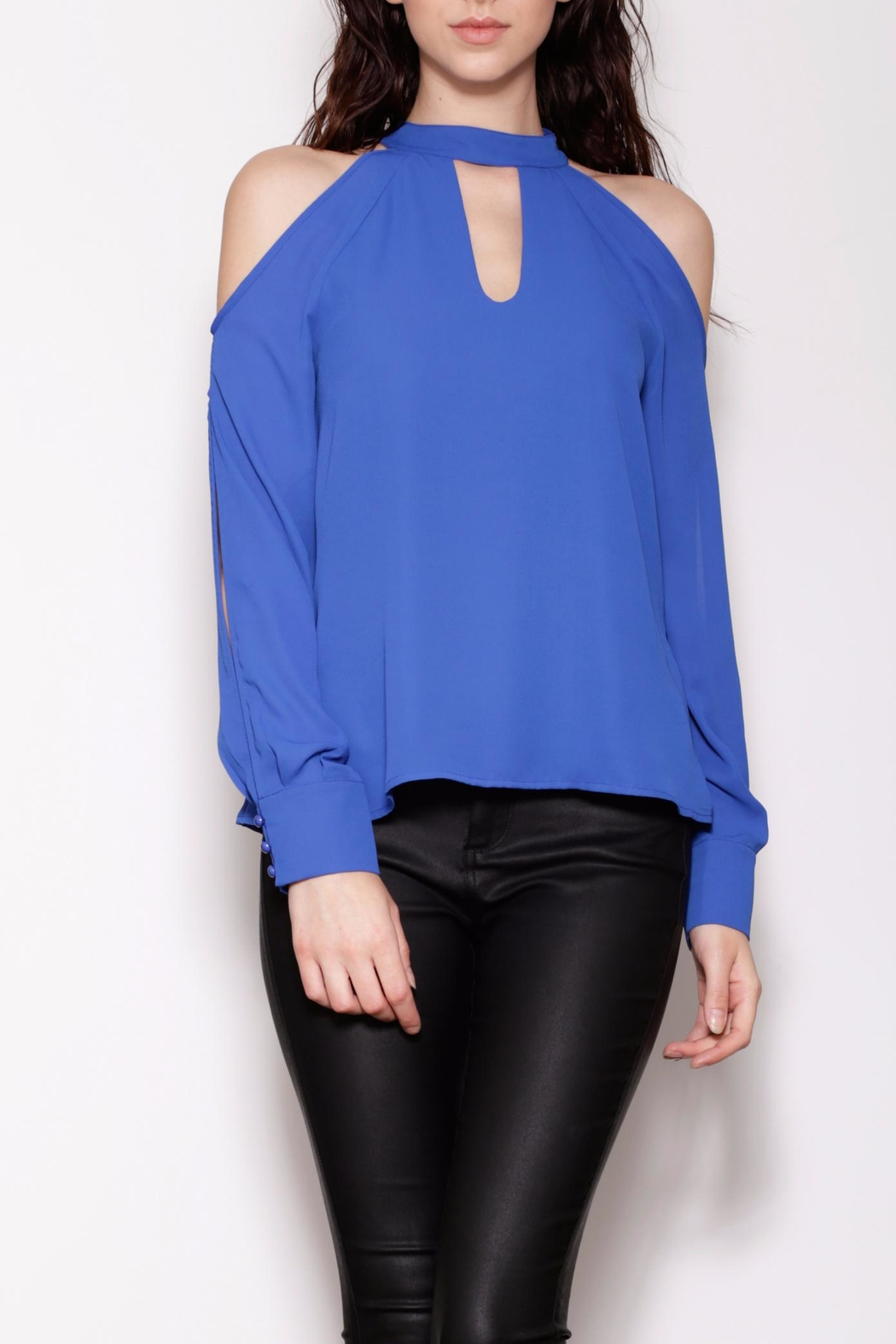 Pink Martini Collection Coled Shoulder Top - Main Image