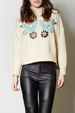 Shoptiques Product: Embroidered Pullover Sweater