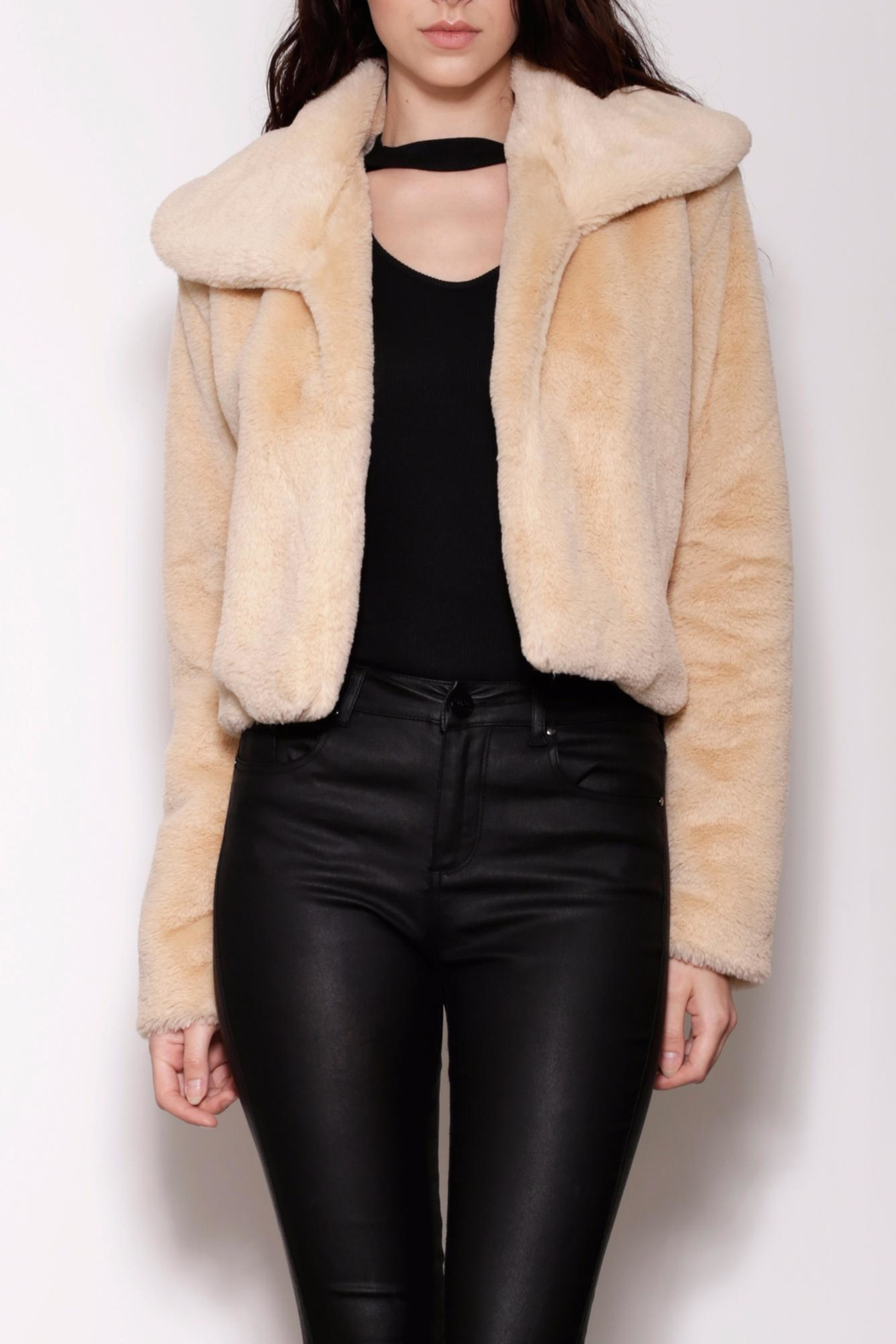 Pink Martini Collection Faux Fur Jacket - Main Image