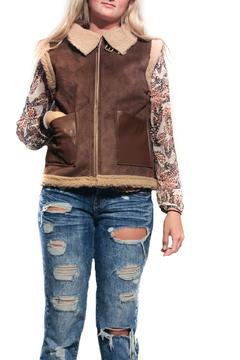 Pink Martini Collection Faux Suede Vest - Product List Image