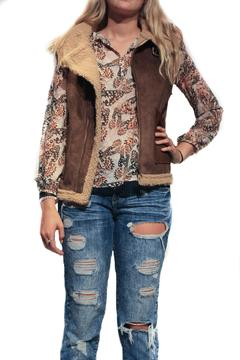 Pink Martini Collection Faux Suede Vest - Alternate List Image