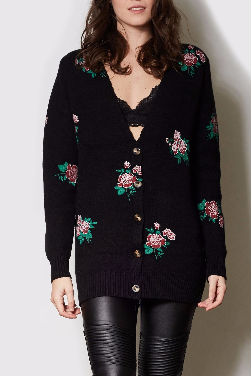 Pink Martini Collection Floral Cardigan - Main Image