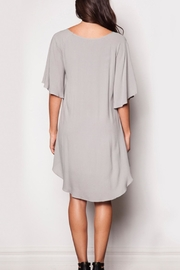Pink Martini Collection Flowing Grey Dress - Side cropped