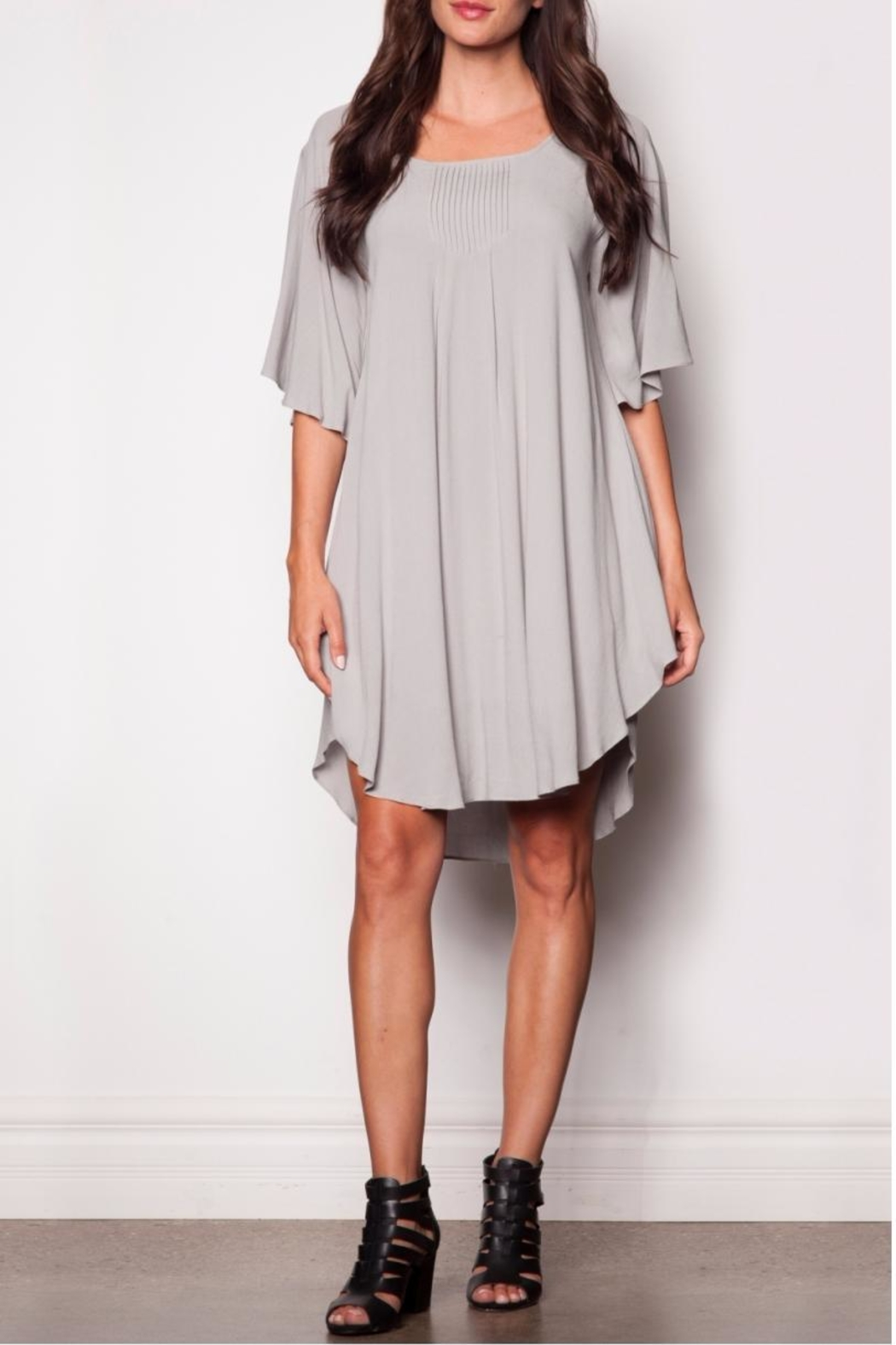 Pink Martini Collection Flowing Grey Dress - Main Image