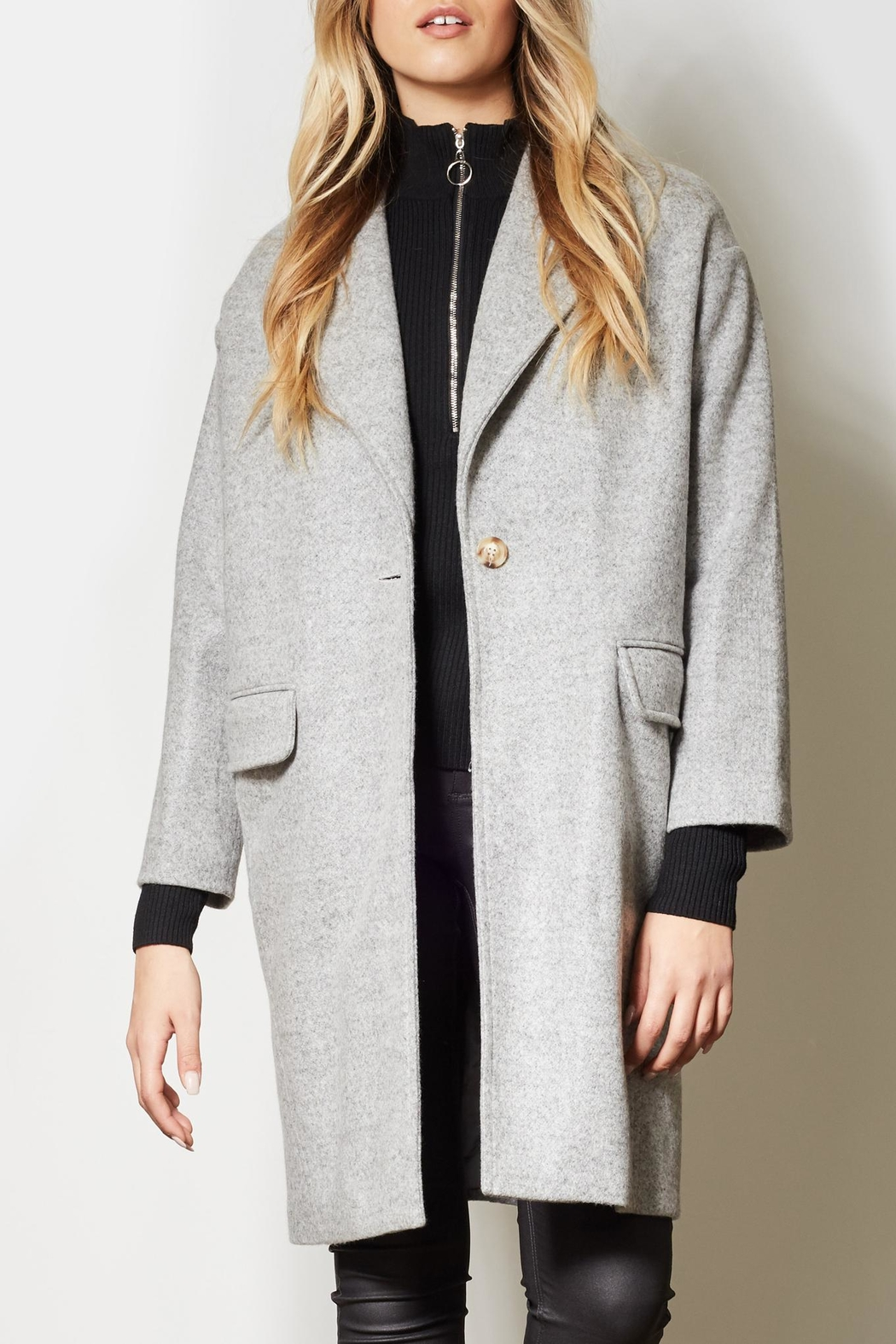 Pink Martini Collection Heather Grey Jacket - Main Image