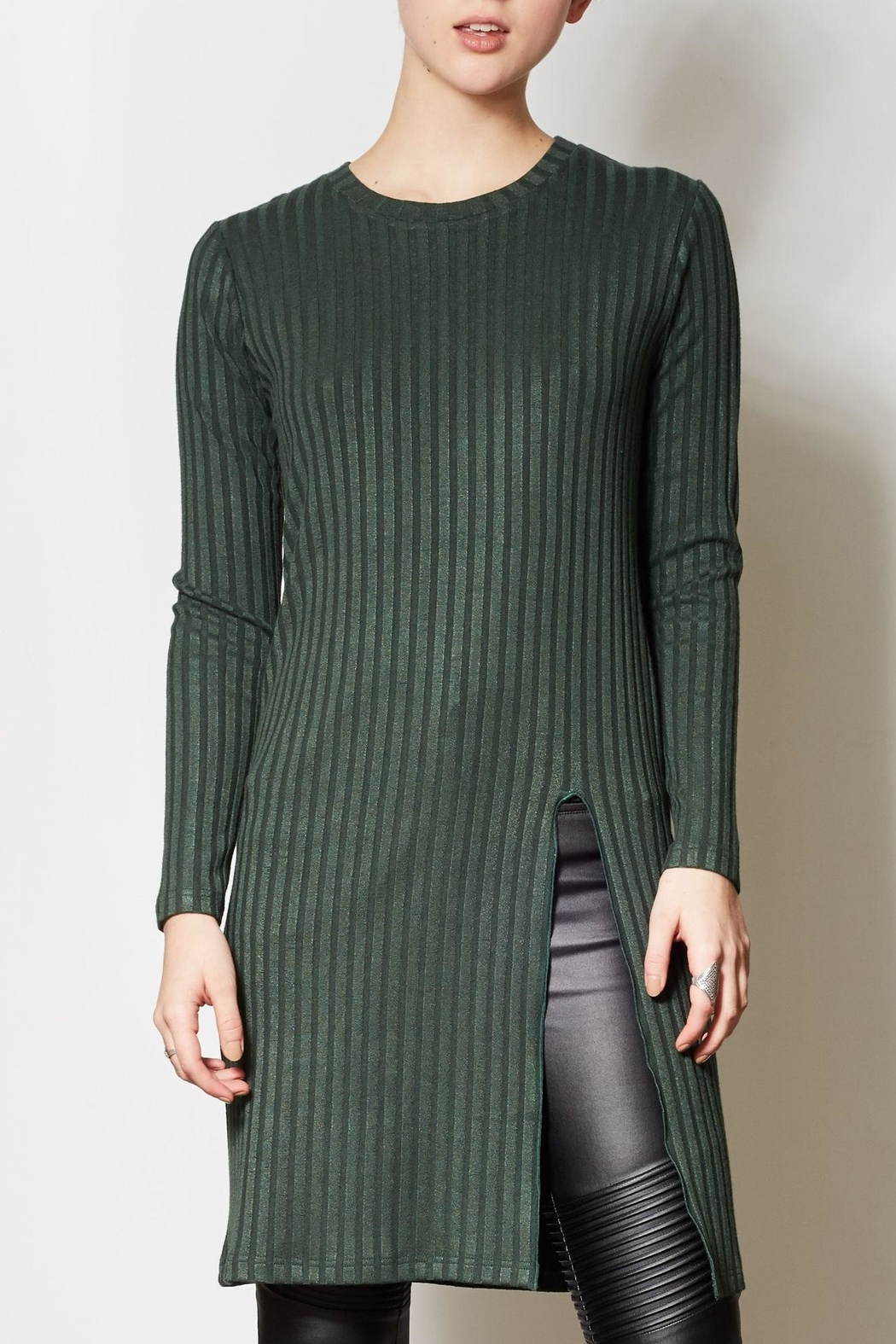 Pink Martini Collection Olive Long Tunic - Main Image