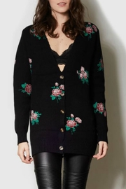 Pink Martini Collection Rose Print Cardigan - Front cropped