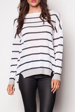 Shoptiques Product: Striped White Sweater