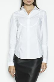 Pink Martini Collection White Tux Top - Product Mini Image