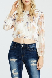 Pink Owl Floral Crop Top - Other