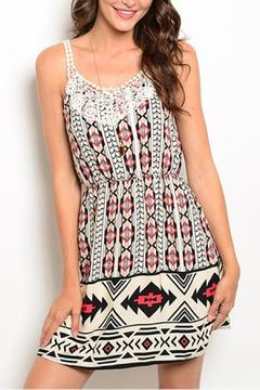 Pink Owl Tribal Crochet Dress - Product List Image