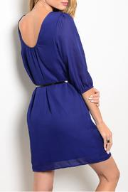 Pink Owl Apparel  Blue Classy Dress - Front full body