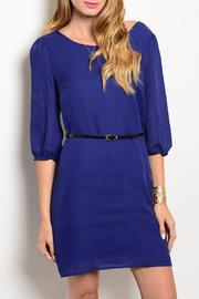 Pink Owl Apparel  Blue Classy Dress - Front cropped
