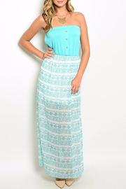 Pink Owl Apparel  Mint White Dress - Front cropped