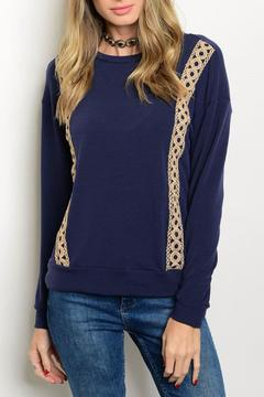 Pink Owl Apparel  Navy Tan Sweater - Product List Image