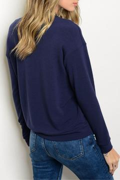 Shoptiques Product: Navy Tan Sweater