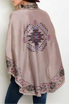 Pink Owl Apparel  Taupe Mauve Poncho - Alternate List Image