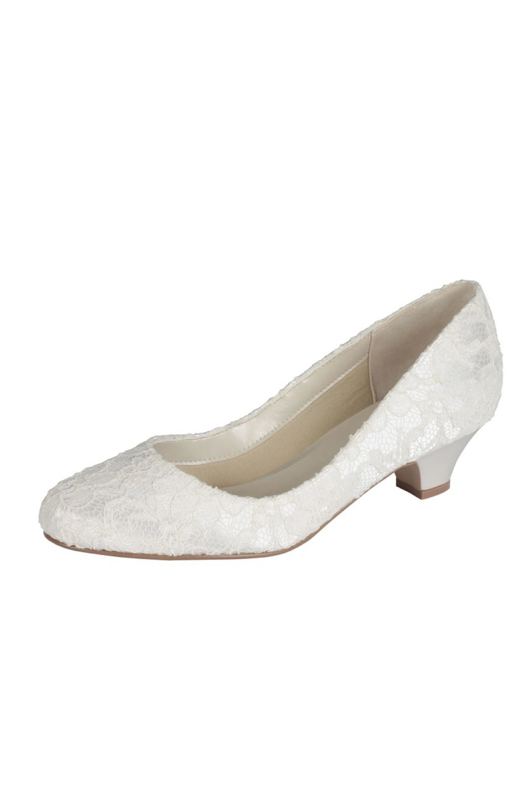 pink paradox London Bonbon Ivory Lace Shoes - Front Cropped Image