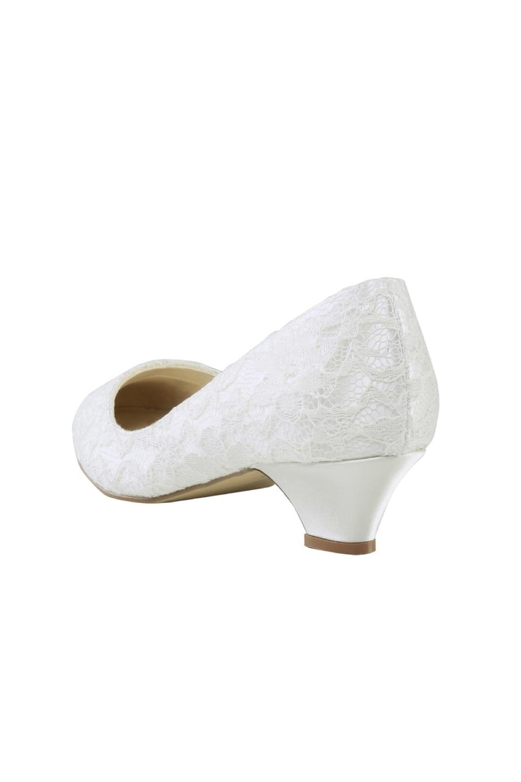 pink paradox London Bonbon Ivory Lace Shoes - Side Cropped Image