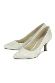 pink paradox London Cameo Ivory Lace Shoes - Front full body