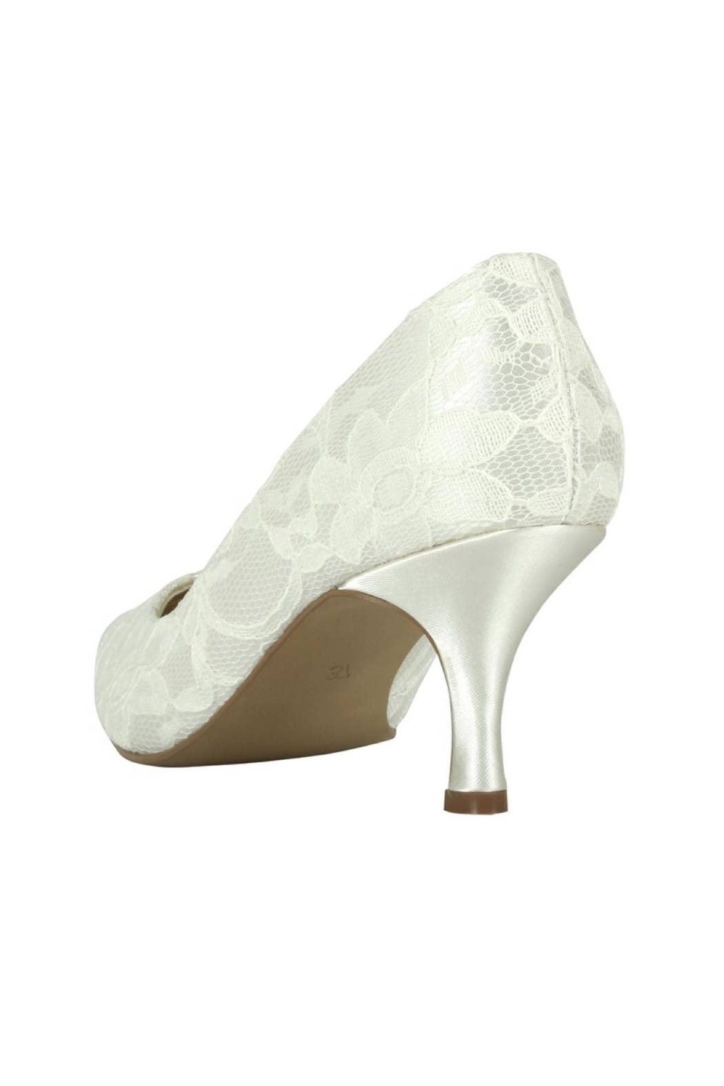 pink paradox London Cameo Ivory Lace Shoes - Side Cropped Image