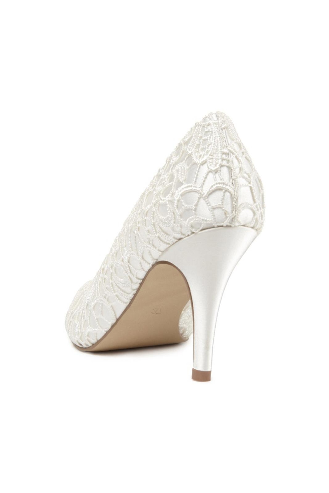 pink paradox London Cosmos Ivory Lace Heels - Side Cropped Image
