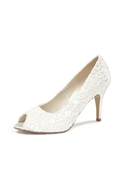pink paradox London Cosmos Ivory Lace Heels - Front cropped