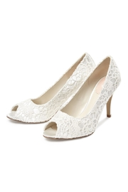 pink paradox London Cosmos Ivory Lace Heels - Front full body