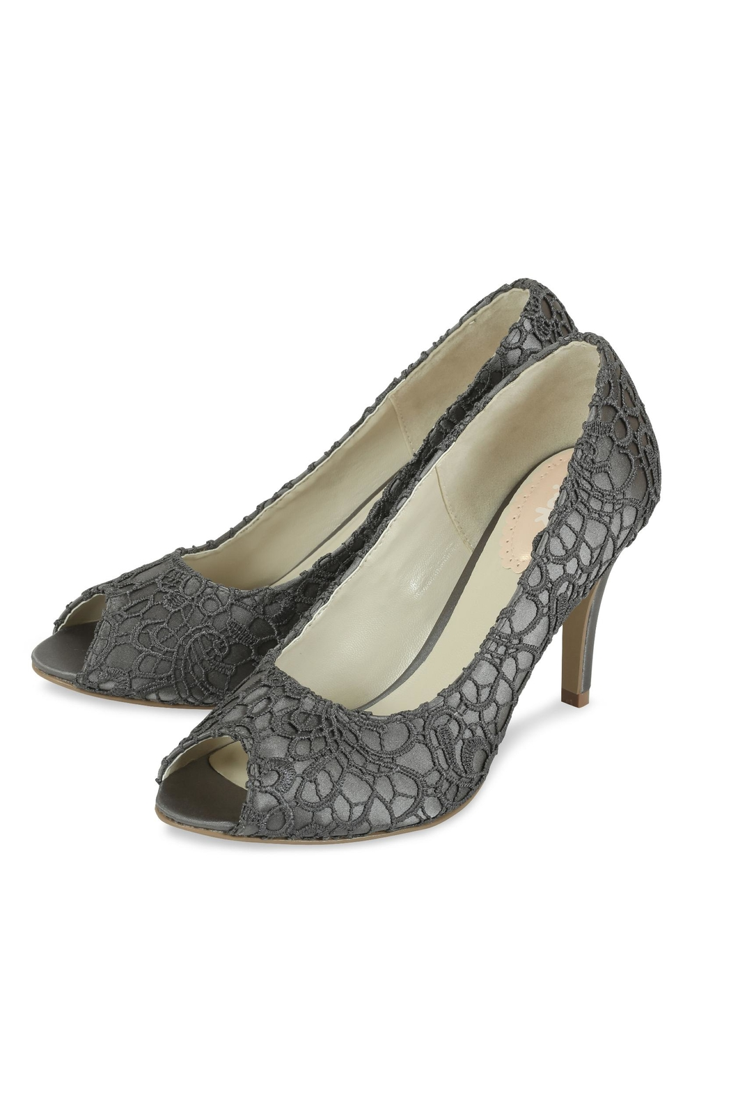 pink paradox London Cosmos Slate Lace Stiletto - Front Full Image