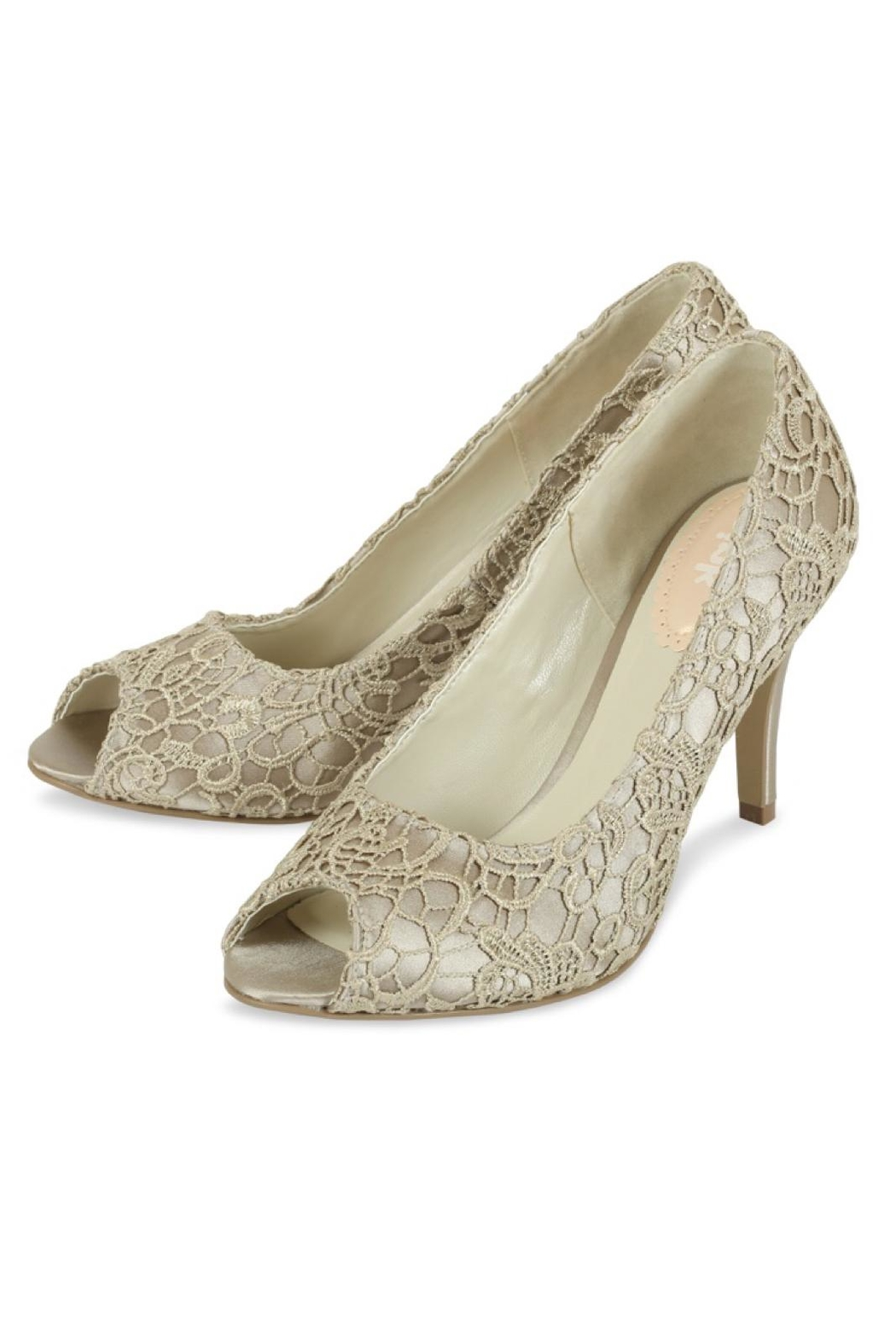 pink paradox London Cosmos Taupe Lace - Front Full Image