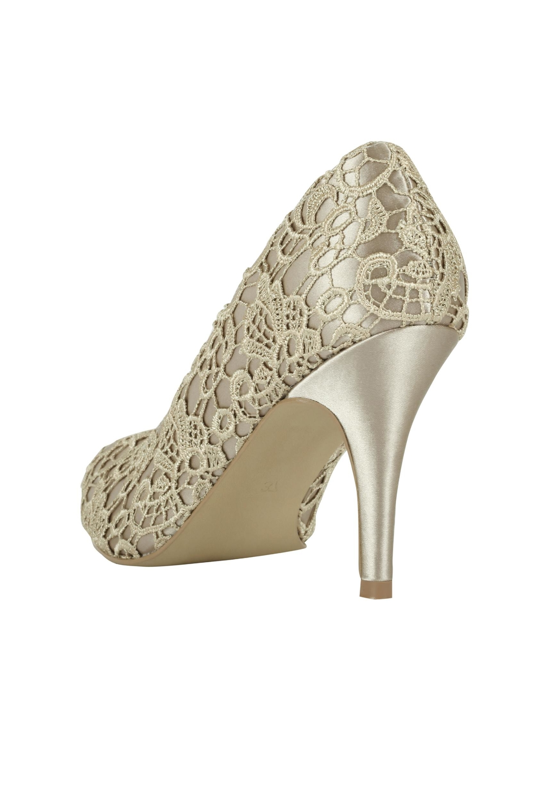 pink paradox London Cosmos Taupe Lace - Side Cropped Image